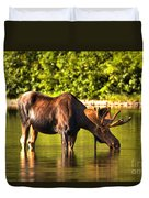 A Drink At Fishercap Duvet Cover