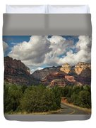 A Drive Through The Red Rocks  Duvet Cover