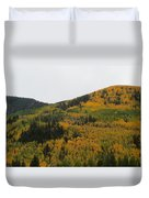 A Drive Throw The Forest In The Fall Duvet Cover