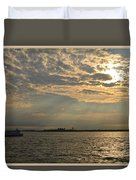 A Evening With Hudson River Duvet Cover