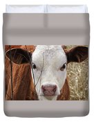 A Face You Can Love - Cow Art #609 Duvet Cover