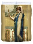 A Fair Reflection Duvet Cover by John William Godward