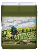 A Fall Day In The Townships Duvet Cover