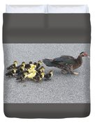 A Family Outing  Duvet Cover by April Wietrecki Green