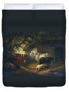 A Farmyard Duvet Cover by George Morland