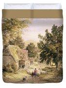 A Farmyard Near Princes Risborough Duvet Cover by Samuel Palmer