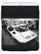 A Ferrari Modulo At Auto Show Duvet Cover