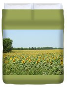 A Field Of Smiles Duvet Cover