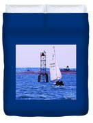 A Fine Day For A Sail Duvet Cover