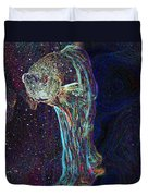 A Fish Called Poe Duvet Cover