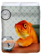 A Fish Out Of Water Duvet Cover by Carrie Jackson
