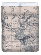 A Fishermans Map Duvet Cover