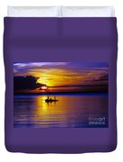 A Fisherman's Sunset  Duvet Cover