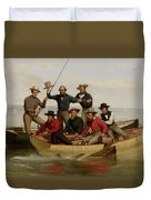 A Fishing Party Off Long Island Metal Duvet Cover