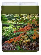 A Flame In The Forest Duvet Cover