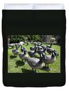 A Flock Of Decoys Duvet Cover