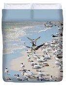 A Flock Of Seagulls Duvet Cover