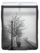 A Foggy Walkway Duvet Cover