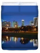 A Fort Worth Night Duvet Cover