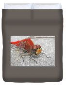 A Friendly Red Dragon Duvet Cover