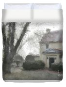 A Frosty Foggy Morning At The Manor House Duvet Cover