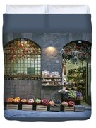 A Fruit And Vegetable Shop In Siena Duvet Cover