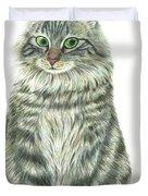 A Furry Cat  Duvet Cover