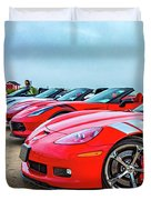 A Gaggle Of Vettes Duvet Cover