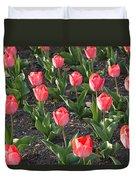 A Garden Full Of Tulips Duvet Cover