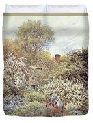 A Garden In Spring Duvet Cover