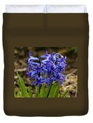 A Gathering Of Blues Duvet Cover