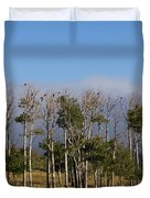 A Gathering Of Crows Duvet Cover