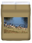 A Gathering Of Geese Duvet Cover