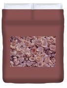 A Gathering Of Sea Shells In Sanibel Duvet Cover