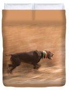 A German Shetland Hunts For Pheasant Duvet Cover