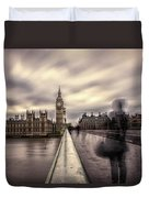 A Ghostly Figure Duvet Cover