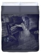 A Ghostly Tune Duvet Cover