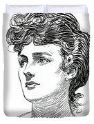 A Gibson Girl By Charles Dana Gibson Duvet Cover