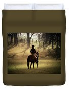 A Girl And Her Horse Duvet Cover