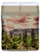 A Glimpse Of The Mountains Duvet Cover