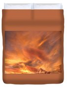 A Glorious Evening Sky Duvet Cover