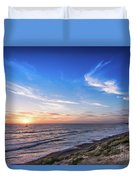 A Glorious Sunset At North Ponto, Carlsbad State Beach Duvet Cover