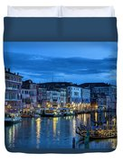 A Glowing Venice  Evening Duvet Cover