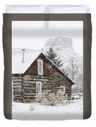 A Golden Winter Duvet Cover