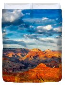 A Grand Canyon Sunset Duvet Cover