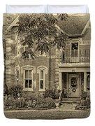A Grand Victorian 3 - Sepia Duvet Cover