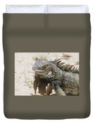 A Gray Iguana With Spines Along It's Back Duvet Cover
