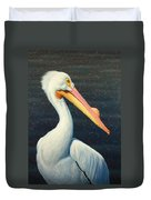 A Great White American Pelican Duvet Cover
