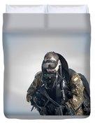 A Green Beret Emerges Onto Okaloosa Duvet Cover