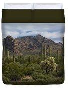 A Green Desert Forest  Duvet Cover